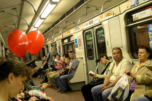 Rusia San Petersburgo Metro Vagon