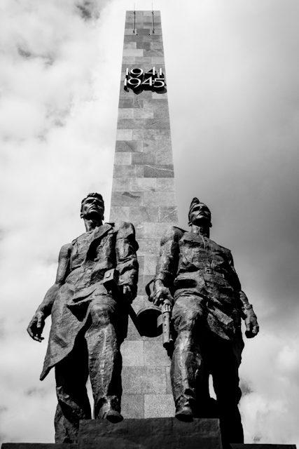 Rusia San Petersburgo Monumento Sitio Stalingrado Vertical