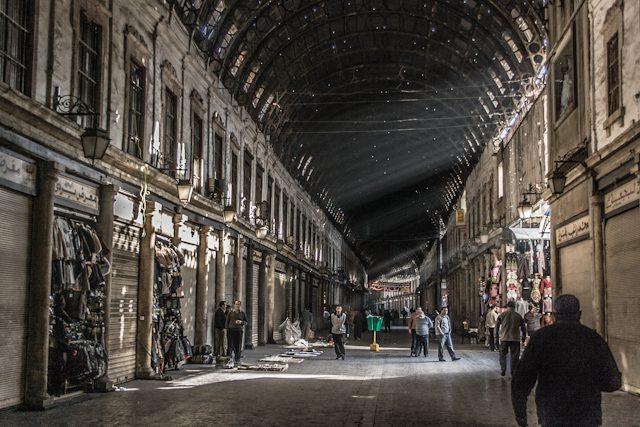 Siria Damasco Zoco Abriendo