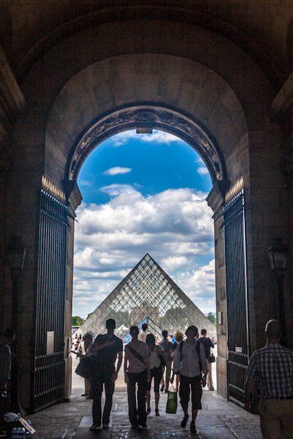 Paris Arco Entrada Louvre