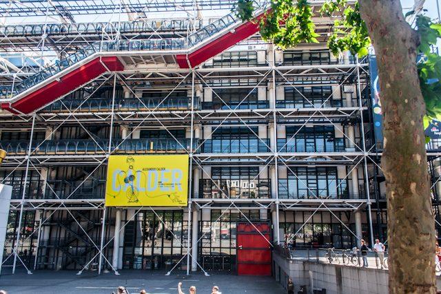 Paris Fachada Lateral Centro Pompidou
