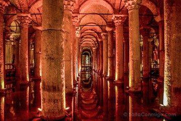 Turquia Estambul Cisterna Columnas