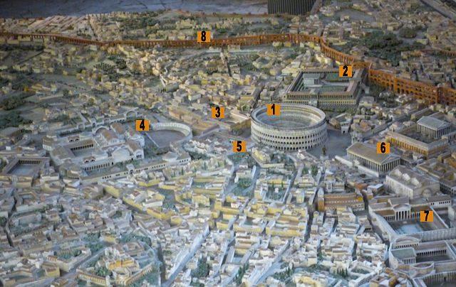 Roma Maqueta Italo Gismondi Detalle