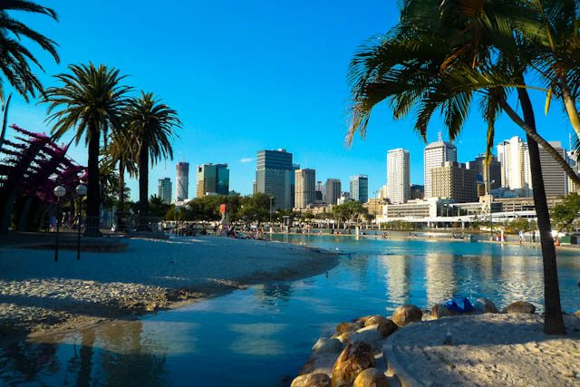 Australia-Brisbane Southbank Playa