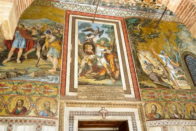 Italia Sicilia Palermo Cappella Palatina Exterior
