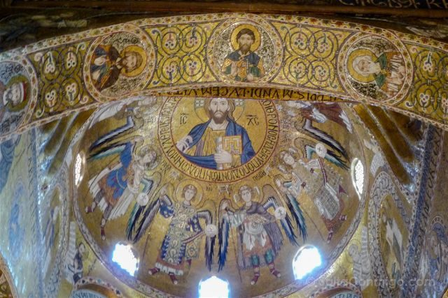 Italia Sicilia Palermo Cappella Palatina Interior Cupula