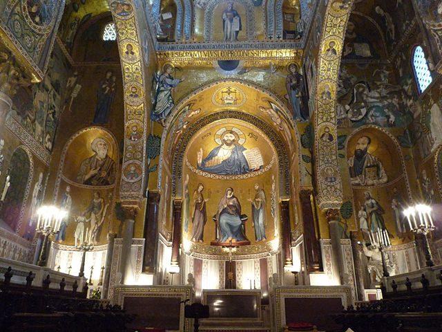 Palermo Cappella Palatina Mosaicos