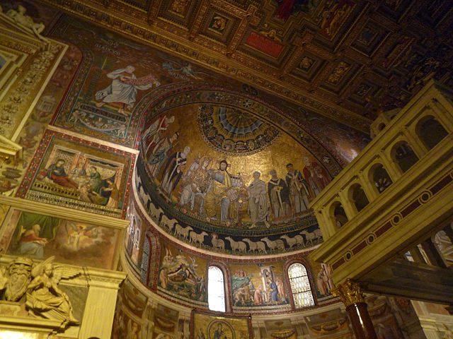 Roma-Basilica di Santa Maria in Trastevere mosaicos