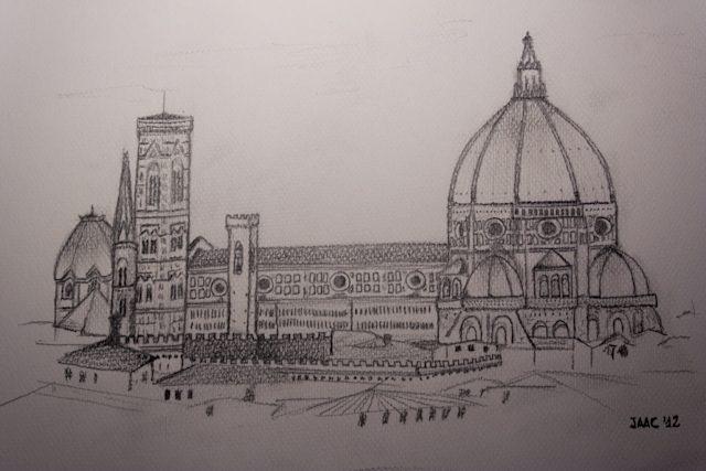 Florencia-Duomo Dibujo Santa Maria del Fiore Santa María de la Flor