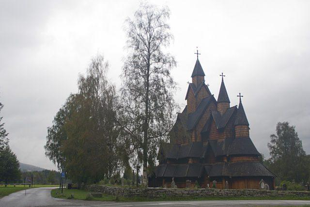 Noruega-Stavkirke Heddal Exterior