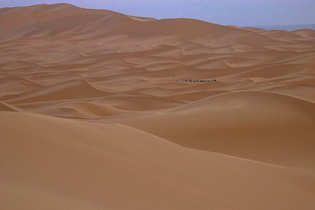 Sahara-Marruecos Merzouga Dunas