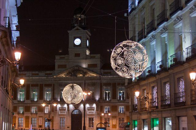 Madrid Preciados Puerta del Sol Iluminación Navidad
