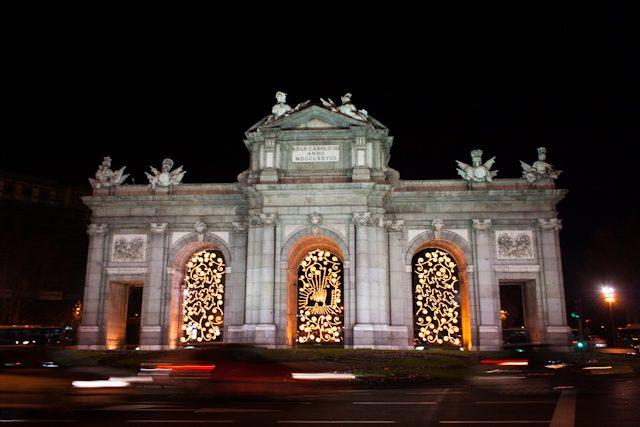 Madrid Puerta Alcala Iluminación Navidad