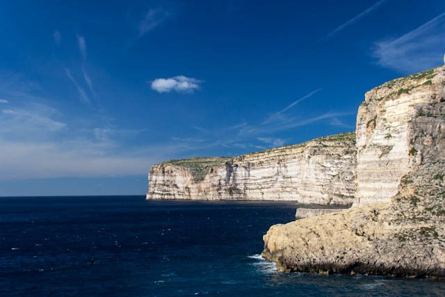 Malta Gozo Xlendi Acantilados