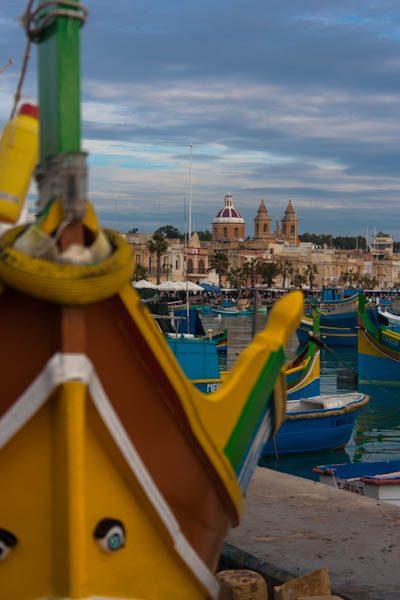 Malta Marsaxlokk Barca Ojos Isis