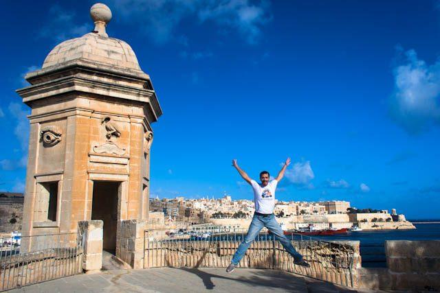 Malta Senglea Bastion Gardjola Salto