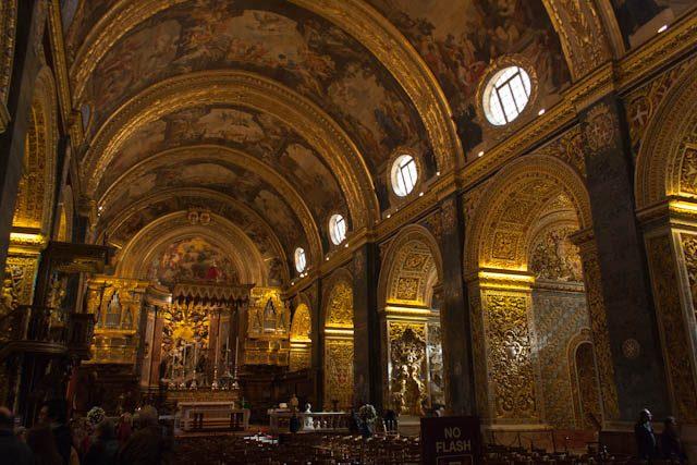 Malta Valeta Concatedral San Juan Interior