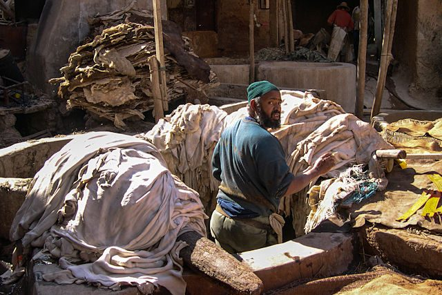 Marruecos-Medina Curtidor