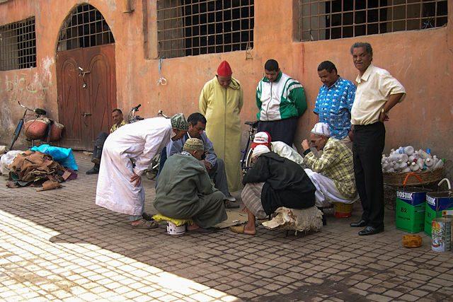 Marruecos-Medina Hombres Juego