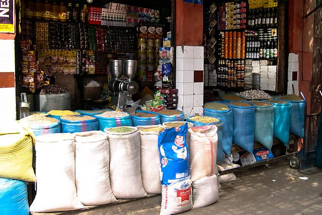 Marruecos-Medina Tienda Especias