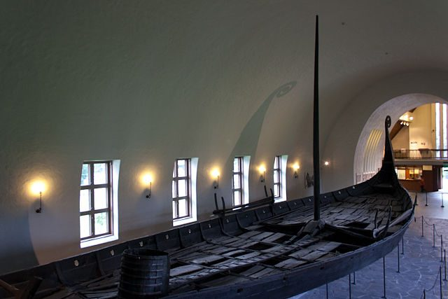 Noruega-Oslo-Vikingskipshuset Gokstad Barco