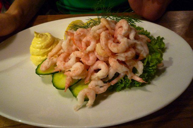 Noruega Comida Restaurante Oslo Gambas