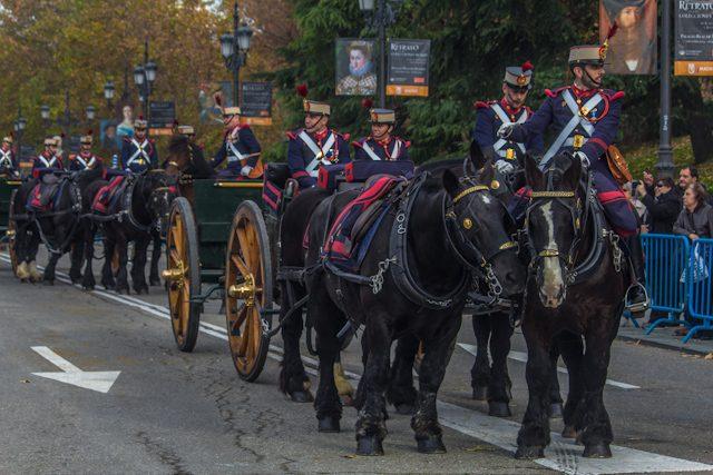 Madrid Palacio Real Relevo Solemen Guardia