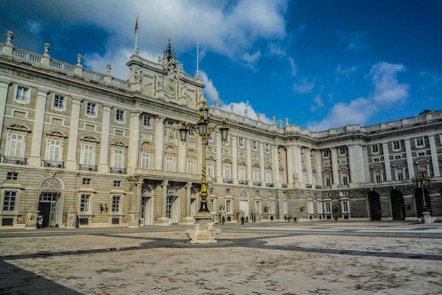 Madrid Palacio Real Fachada Lateral