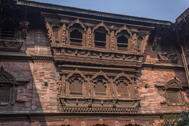 Nepal Durbar Square Katmandu Kumari Ghar Ventanas