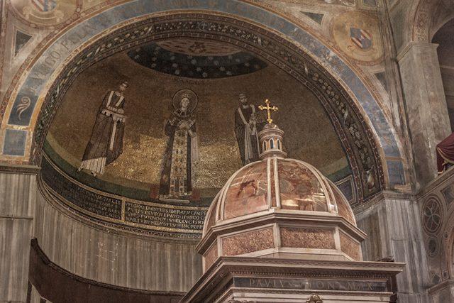 Roma Santa Inés Extramuros Ábside Mosaico