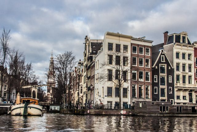 Amsterdam Canales Desde Barco