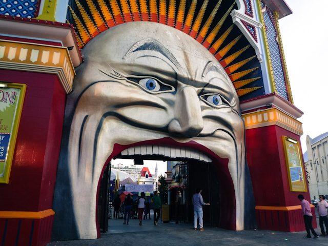 Melbourne St Kilda Luna Park Mr Moon