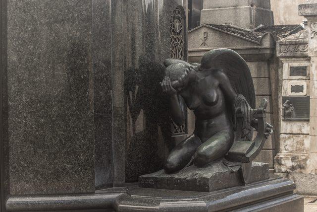 Argentina Buenos Aires Cementerio Chacarita Lloro