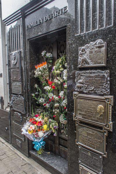 Argentina Buenos Aires Cementerio Recoleta Eva Duarte Perón Evita