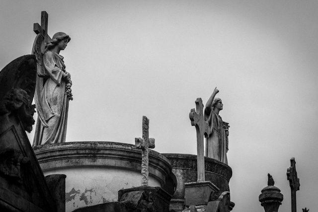 Argentina Buenos Aires Cementerio Recoleta Techos
