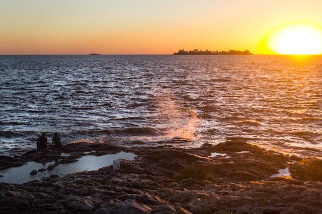 Uruguay Colonia del Sacramento Puesta Sol Pescadores