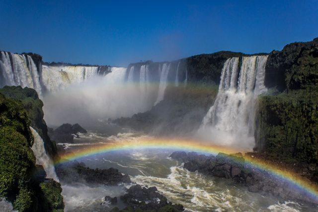 Brasil Cataratas Iguazu Arriba Garganta Diablo Arco Iris