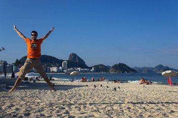 Riode Janeiro Copacabana Playa Salto