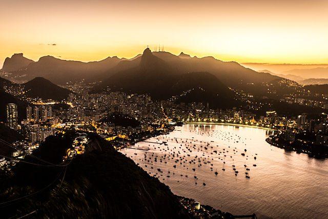 Rio de Janeiro Pan Azucar Vista Ciudad Nocturna