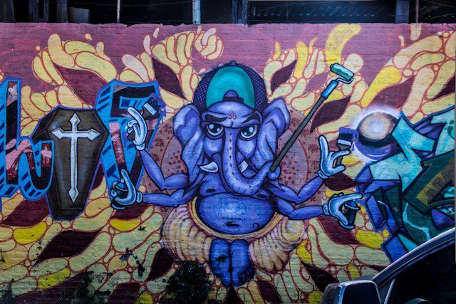Sao Paulo Beco Batman Graffiti Ganesh