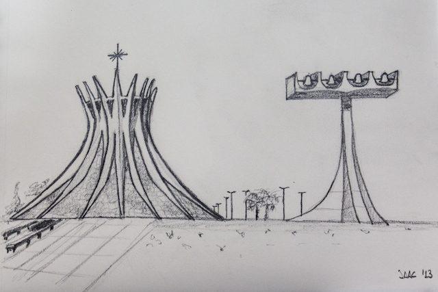 Brasilia Catedral Metropolitana Dibujo
