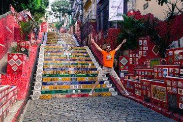 Rio de Janeiro Escadaria Selaron Salto
