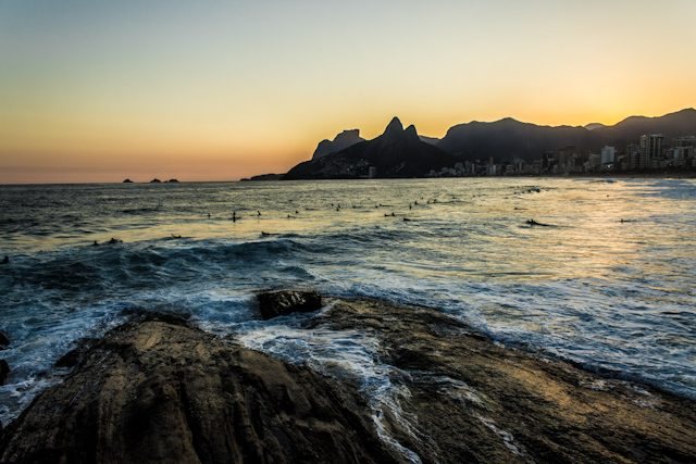 Rio de Janeiro Puesta Sol Playa Ipanema