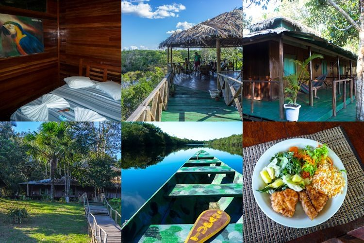 Dormir en un hotel en la selva amazónica: Amazon Tupana Lodge