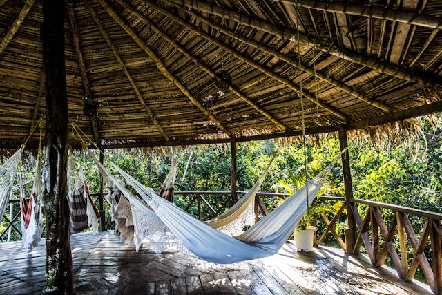 Hotel Selva Amazon Tupana Lodge Zona Descanso Hamacas