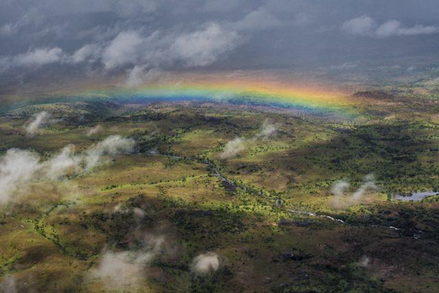 Salto Angel Venezuela Canaima Desde Avion Arco Iris