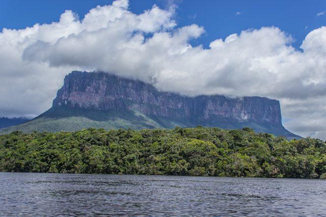 Salto Angel Venezuela Tepuy Desde Rio