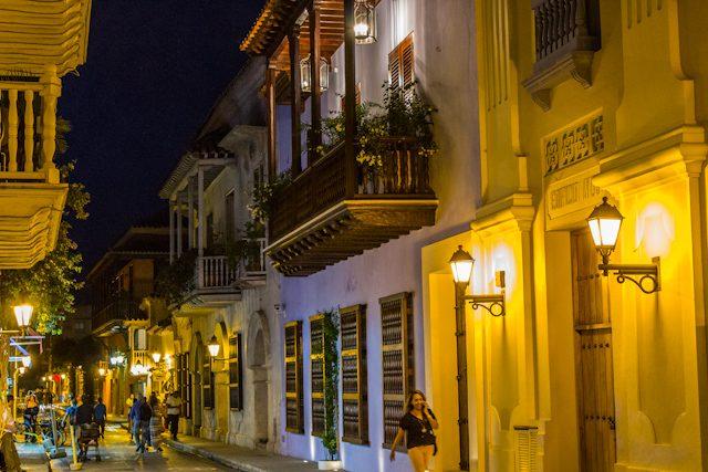 Cartagena de Indias Calles Nocturna