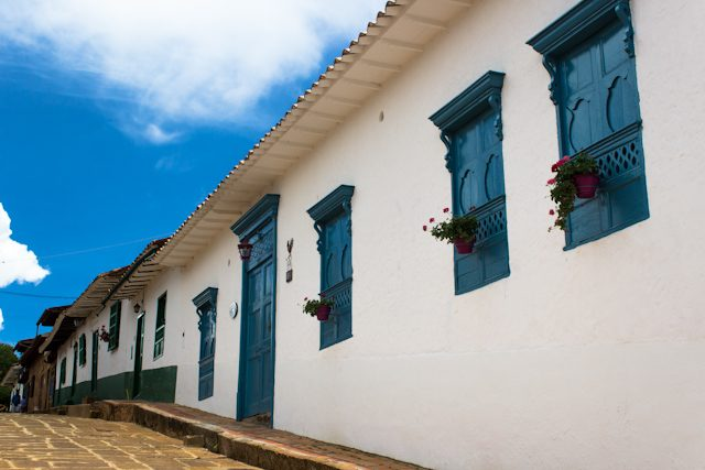 Barichara Calles Ventanas Puertas Azul