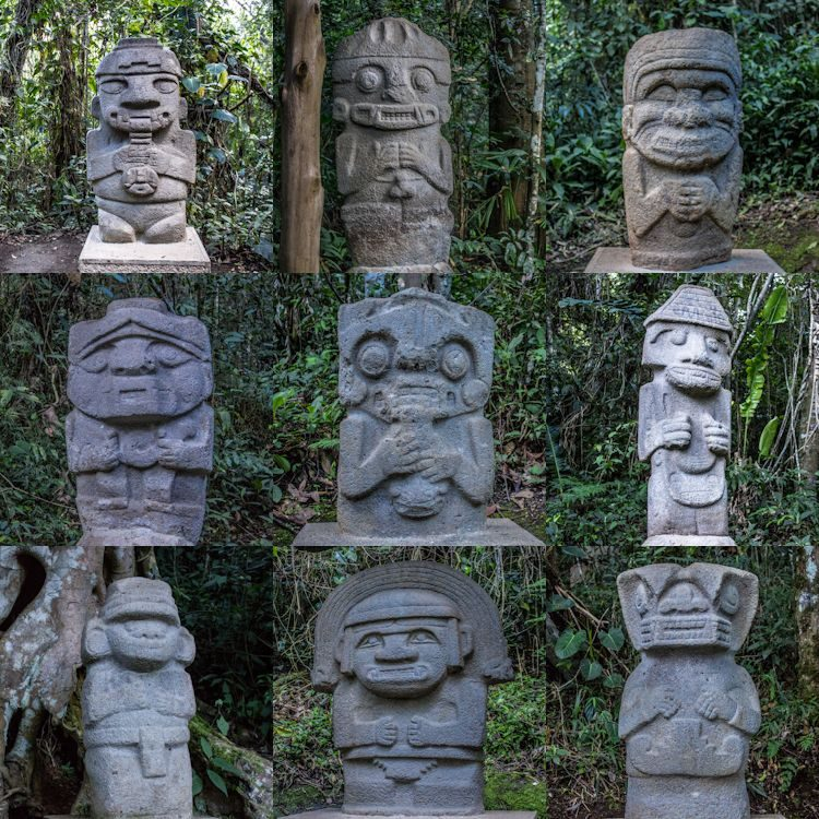 SanAgustin Parque Arqueologico Estatuas Mosaico